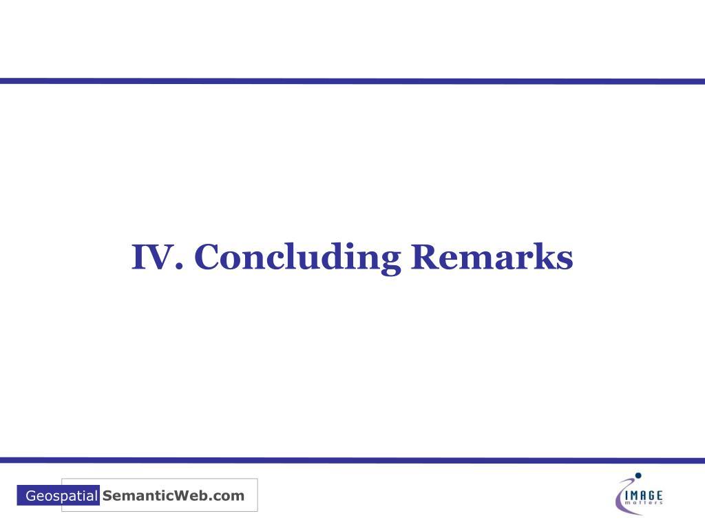 IV. Concluding Remarks