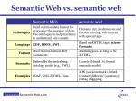 semantic web vs semantic web
