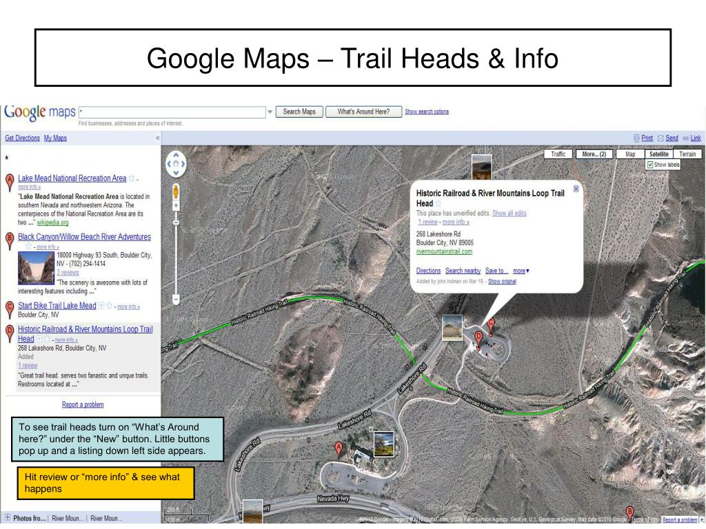 Google Maps – Trail Heads & Info