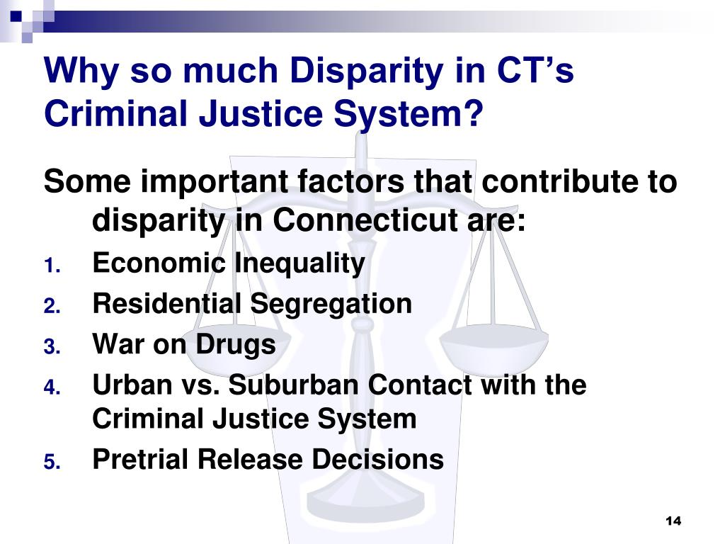 disparity in the criminal justice system essays Racial inequality in the criminal justice system | july 13 racial inequality in the criminal justice system nursing essay writing service.