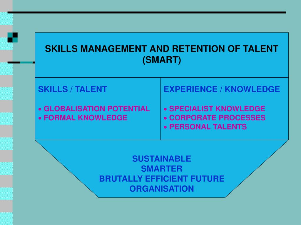 SKILLS MANAGEMENT AND RETENTION OF TALENT (SMART)
