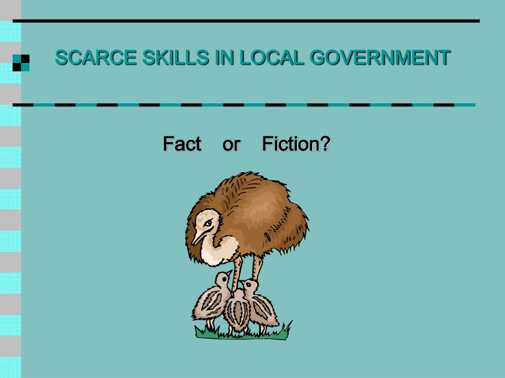 SCARCE SKILLS IN LOCAL GOVERNMENT