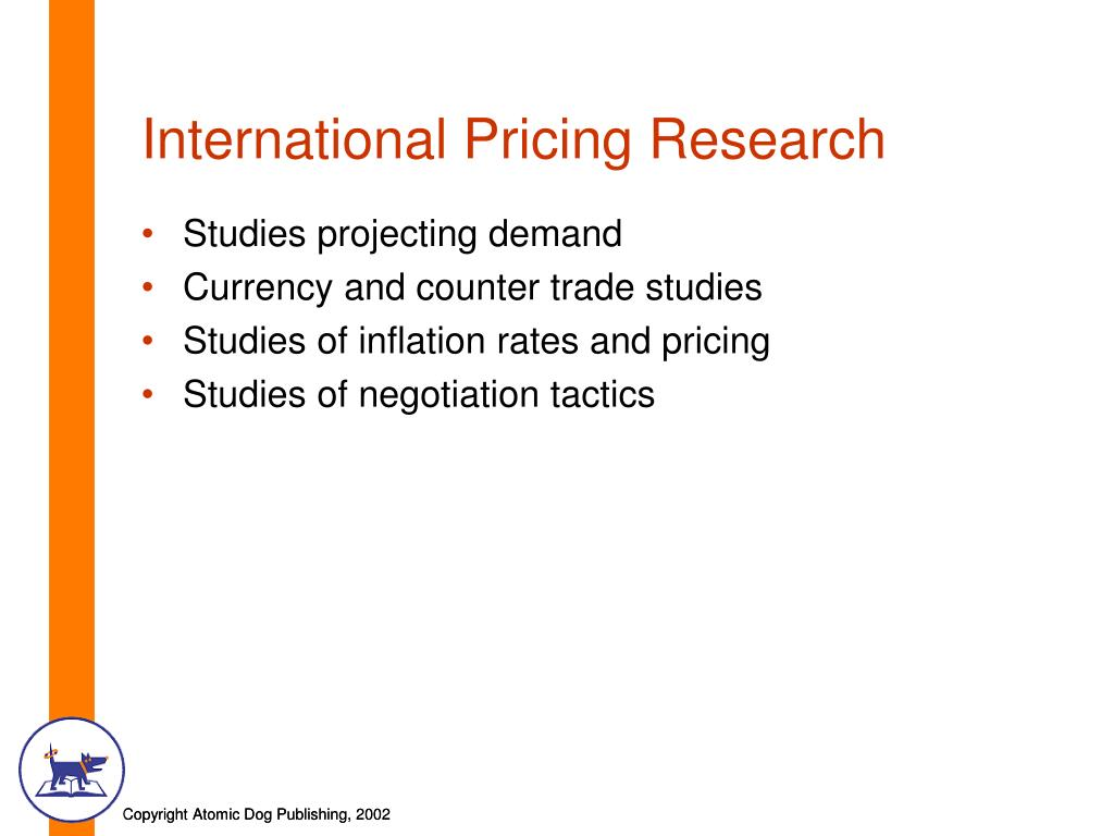 International Pricing Research