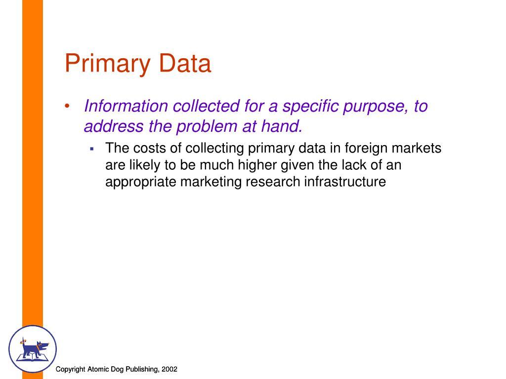 Primary Data