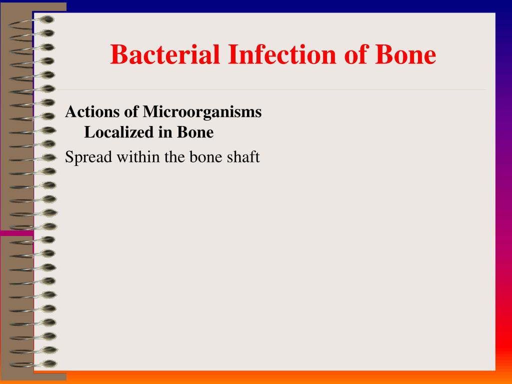 Actions of Microorganisms Localized in Bone