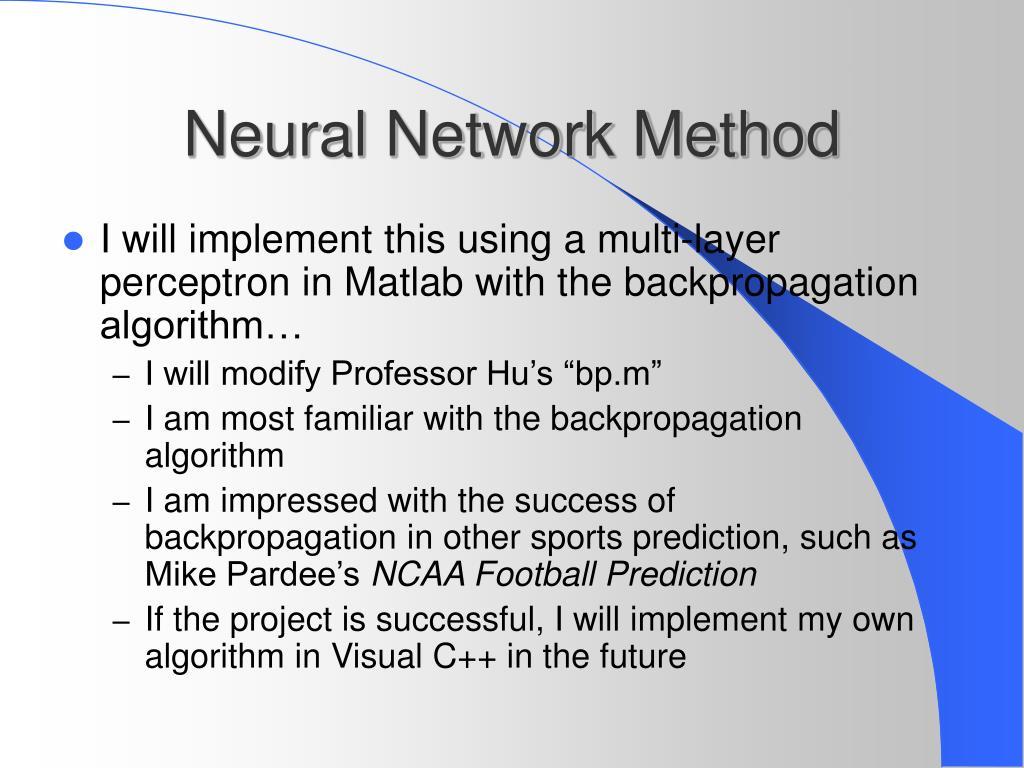 Neural Network Method