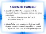 charitable portfolios