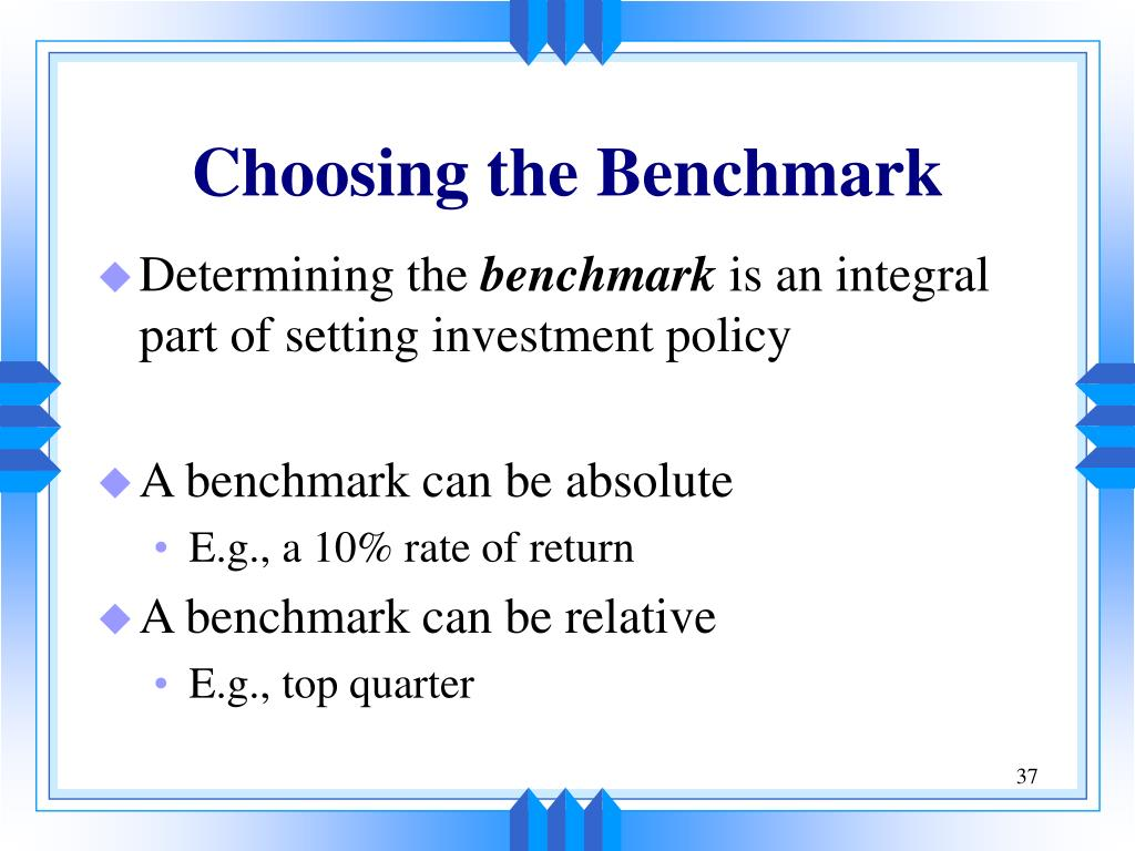 Choosing the Benchmark