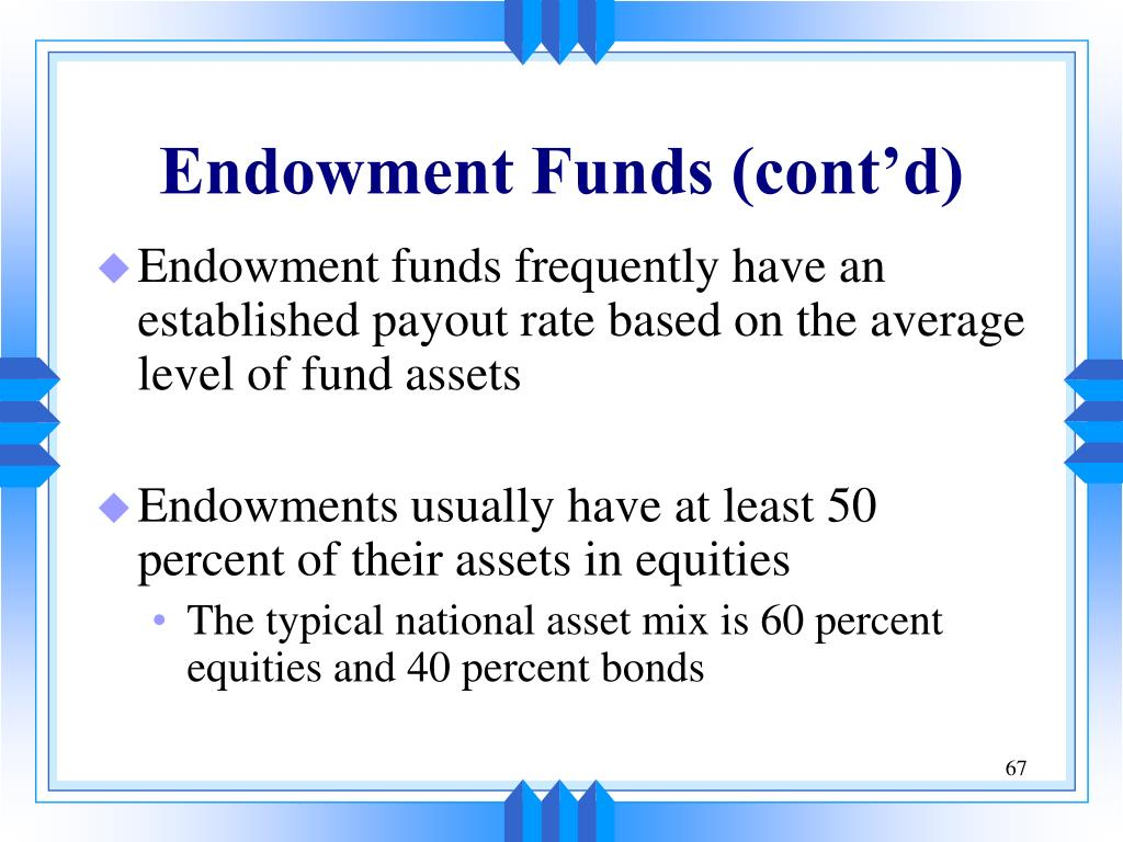 Endowment Funds (cont'd)