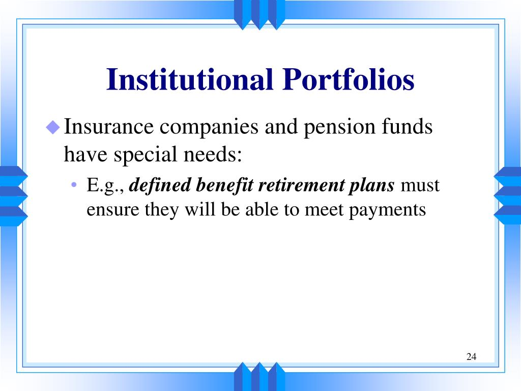 Institutional Portfolios