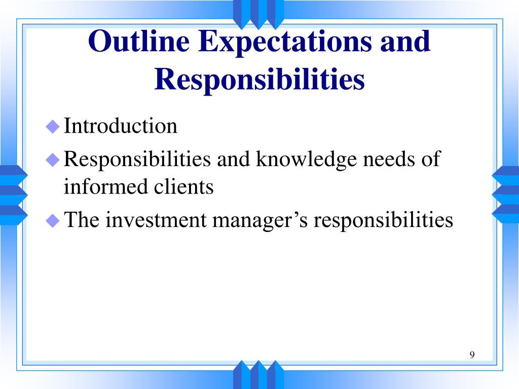 Outline Expectations and Responsibilities
