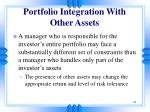 portfolio integration with other assets