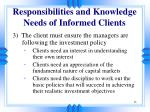 responsibilities and knowledge needs of informed clients13