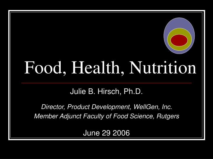 Food health nutrition