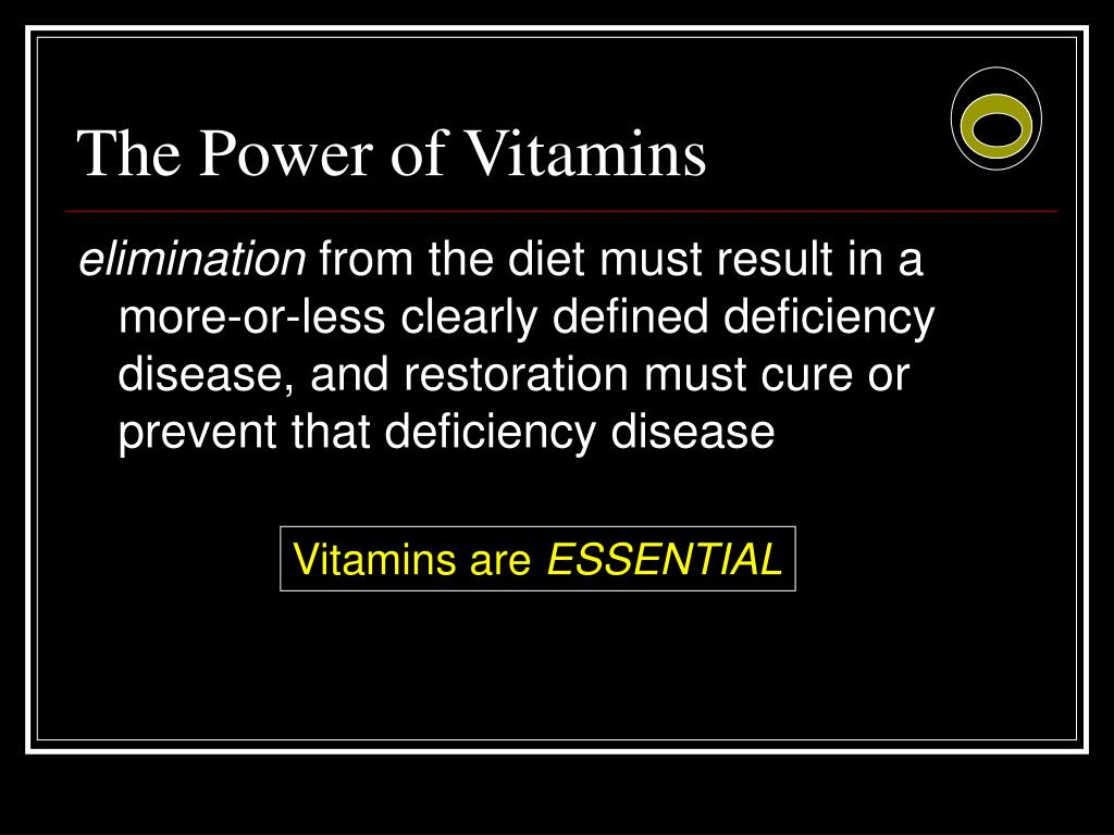 The Power of Vitamins