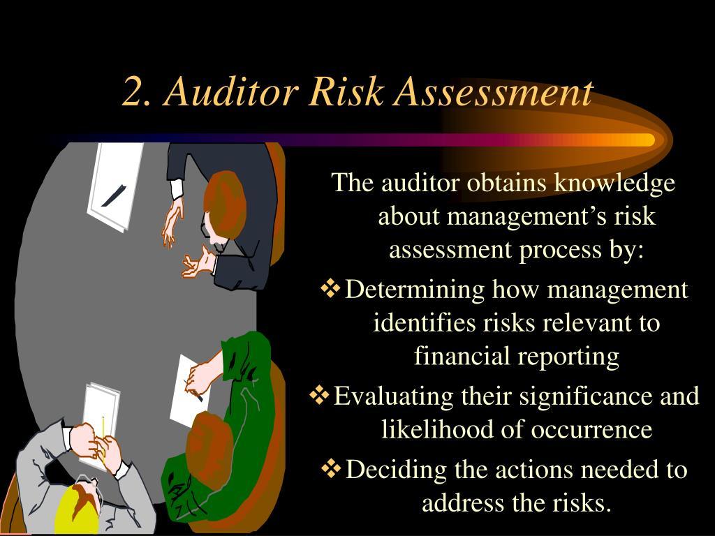 2. Auditor Risk Assessment