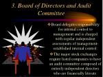 3 board of directors and audit committee