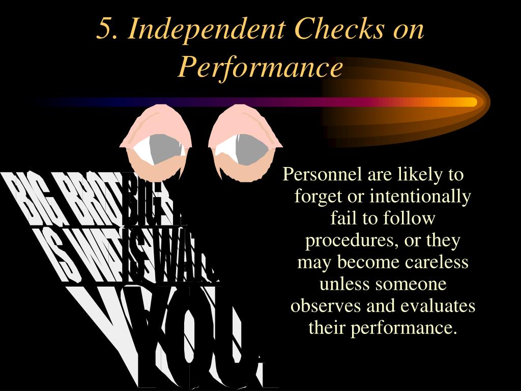 5. Independent Checks on Performance