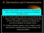 d information and communication