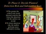 d phase 4 decide planned detection risk and substantive tests
