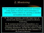 e monitoring