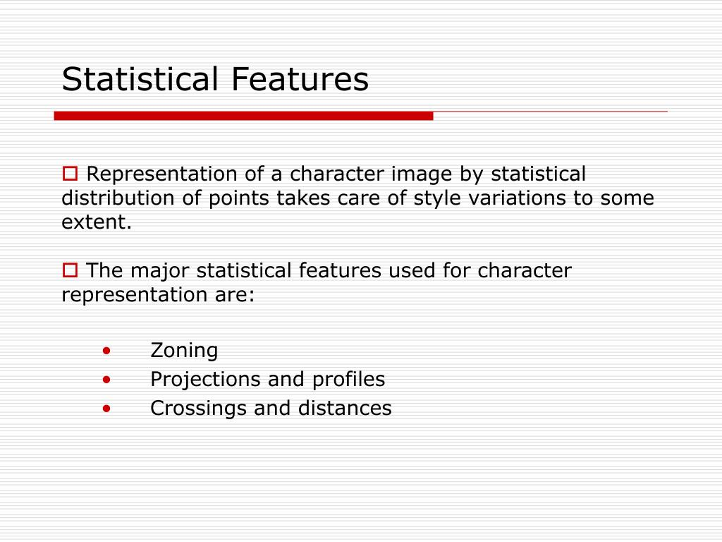 Statistical Features