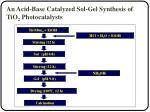 an acid base catalyzed sol gel synthesis of tio 2 photocatalysts