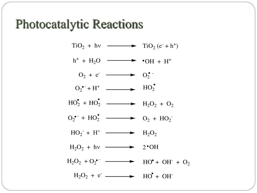 Photocatalytic Reactions