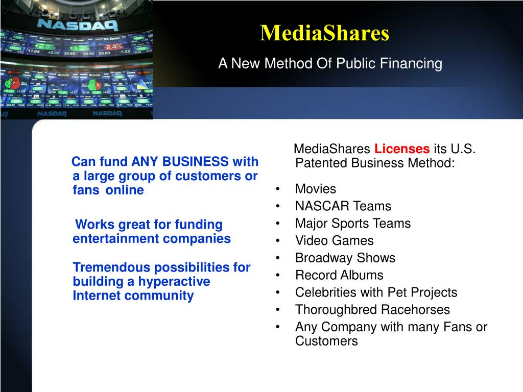 Can fund ANY BUSINESS with a large group of customers or fans	online