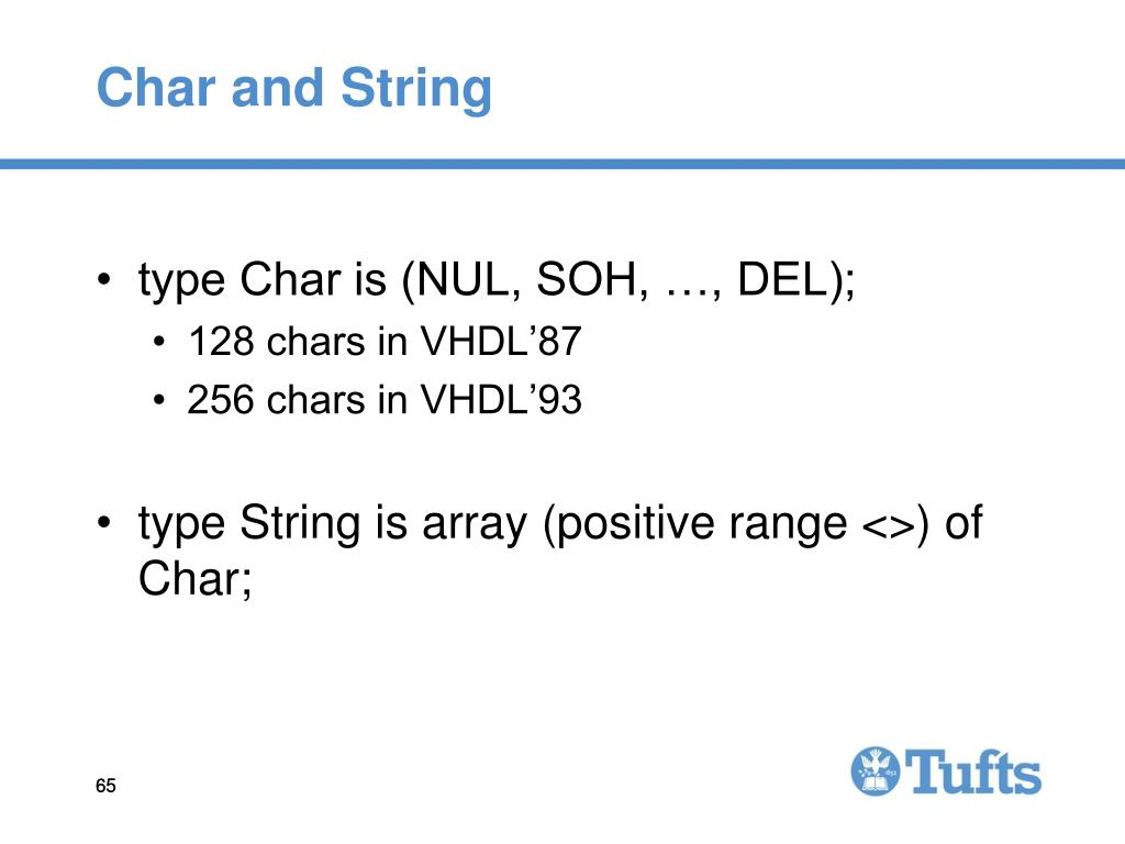 Char and String