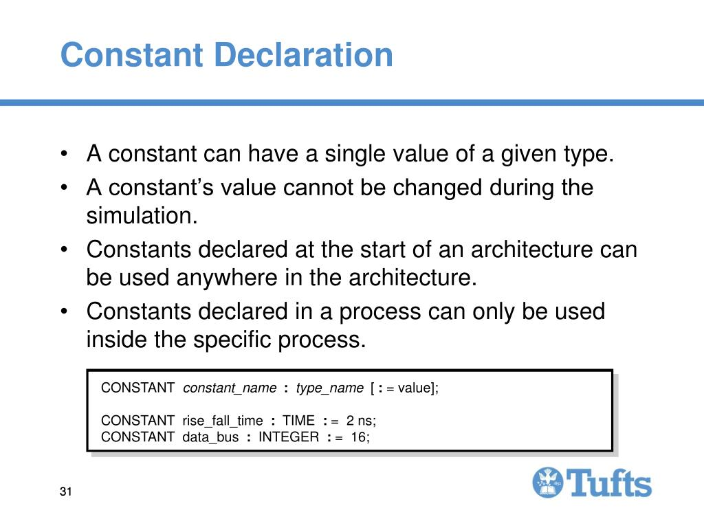 Constant Declaration