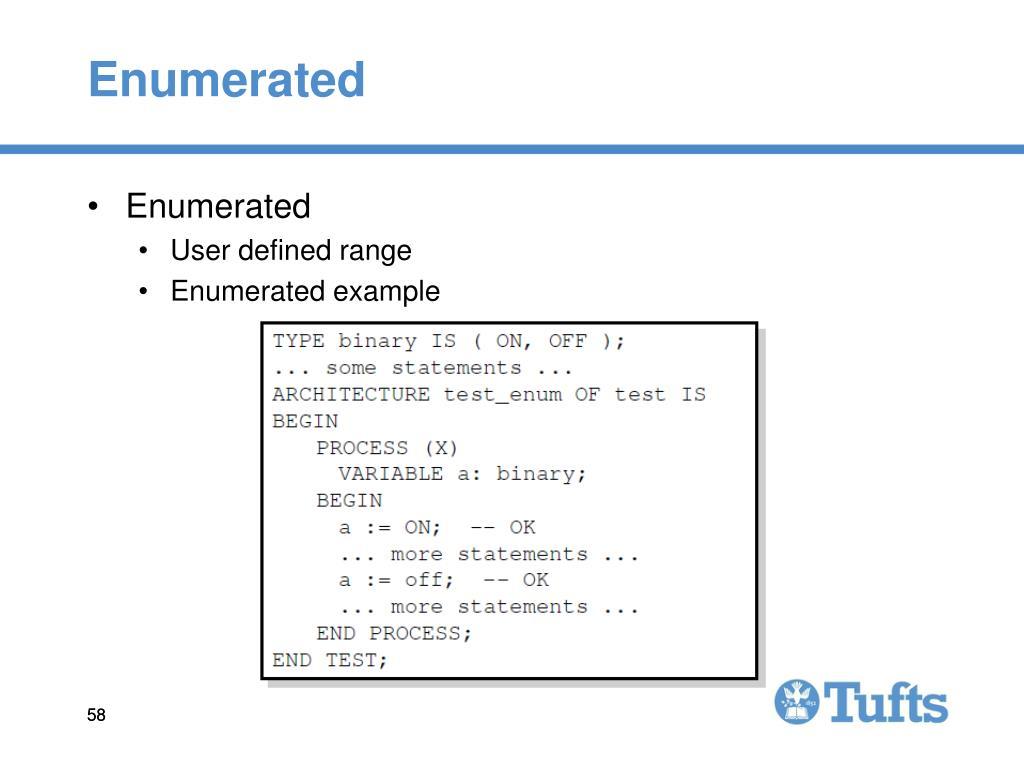 Enumerated