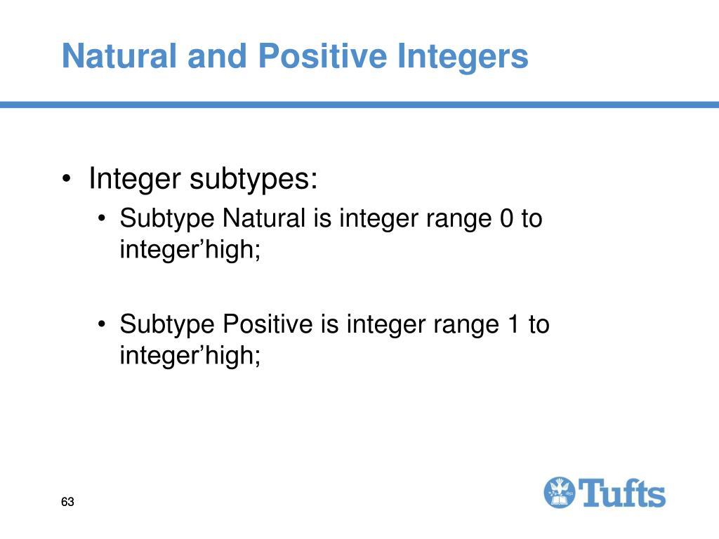 Natural and Positive Integers