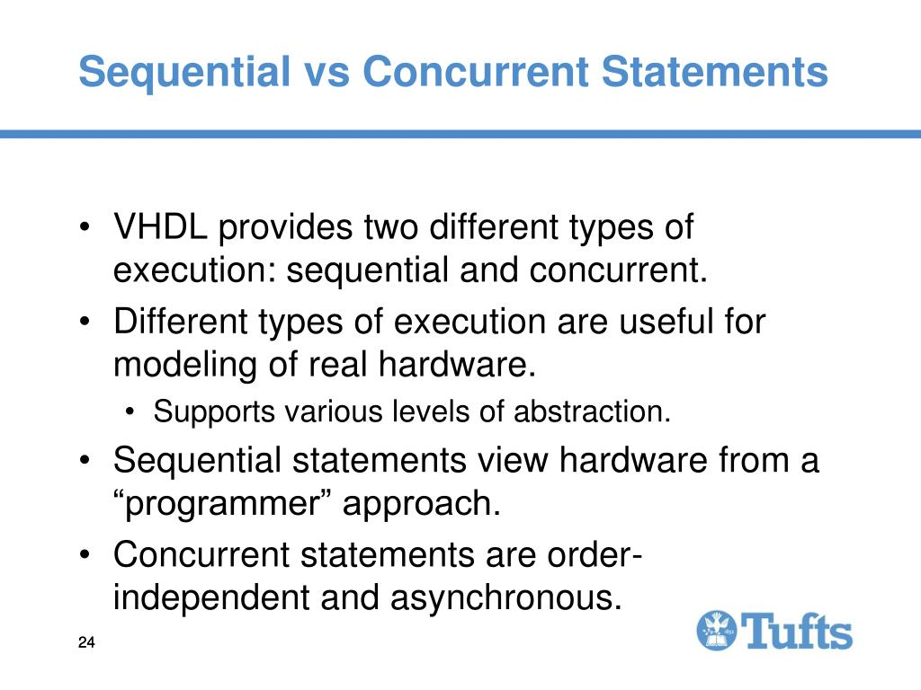 Sequential vs Concurrent Statements