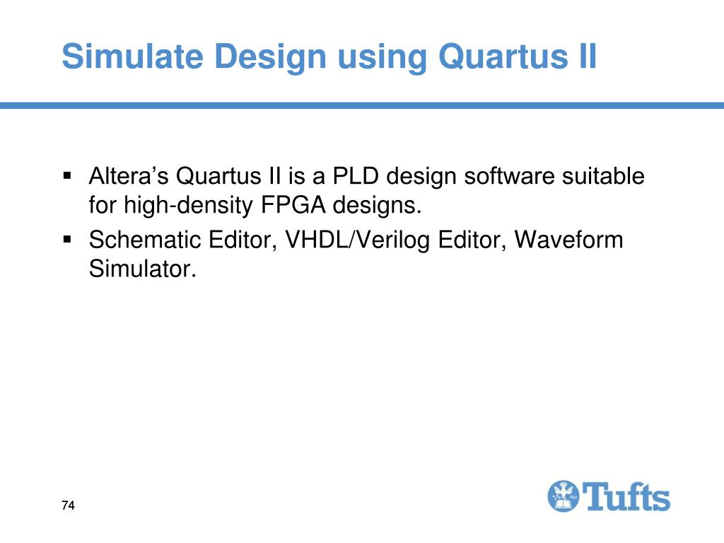 Simulate Design using Quartus II