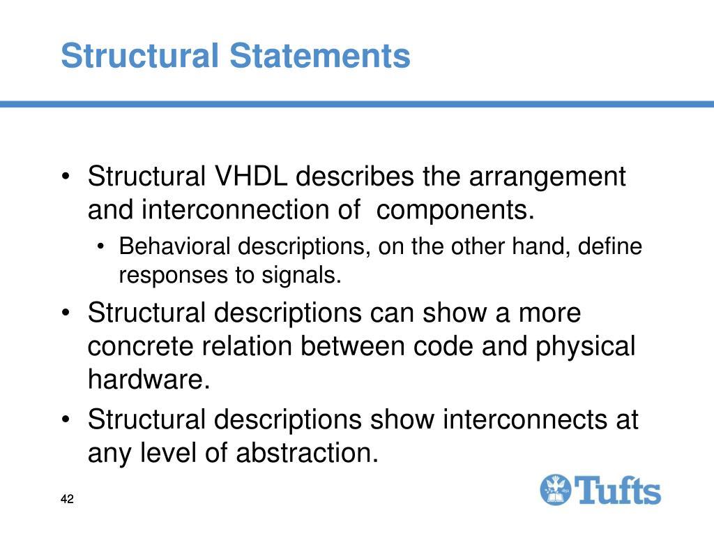 Structural Statements