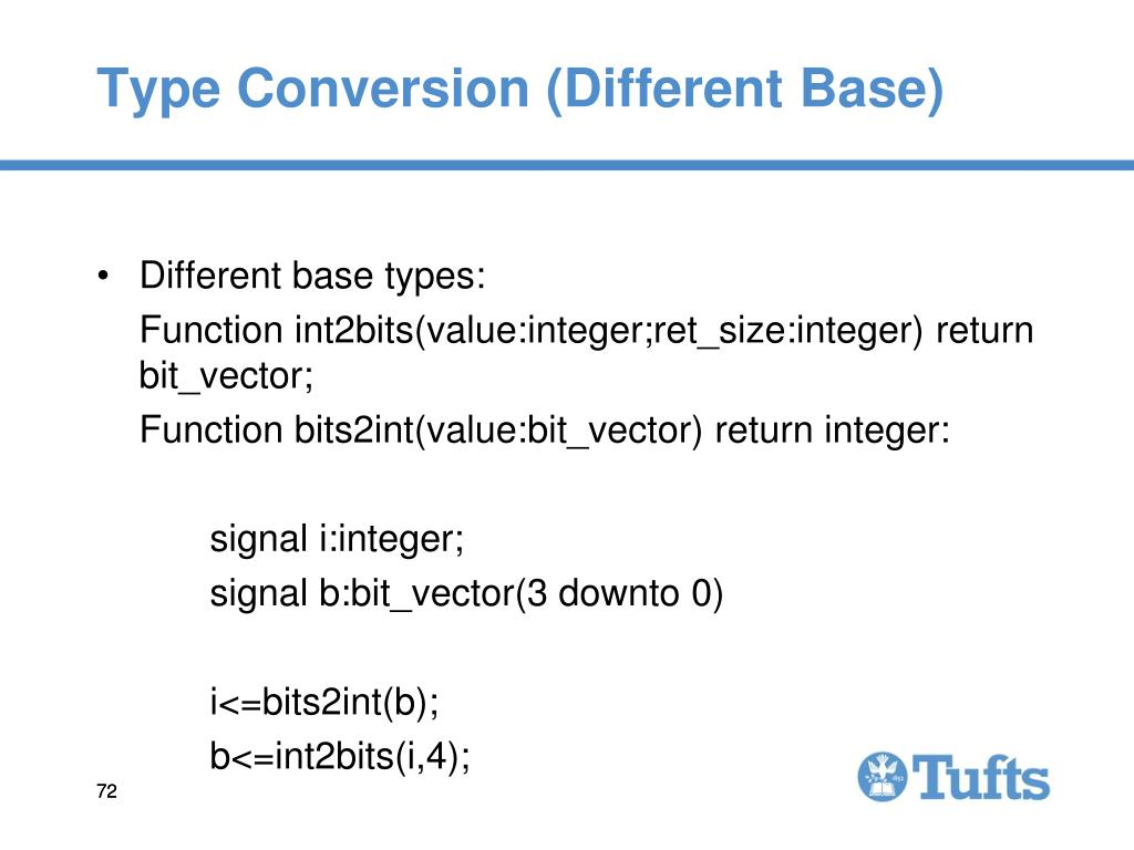 Type Conversion (Different Base)