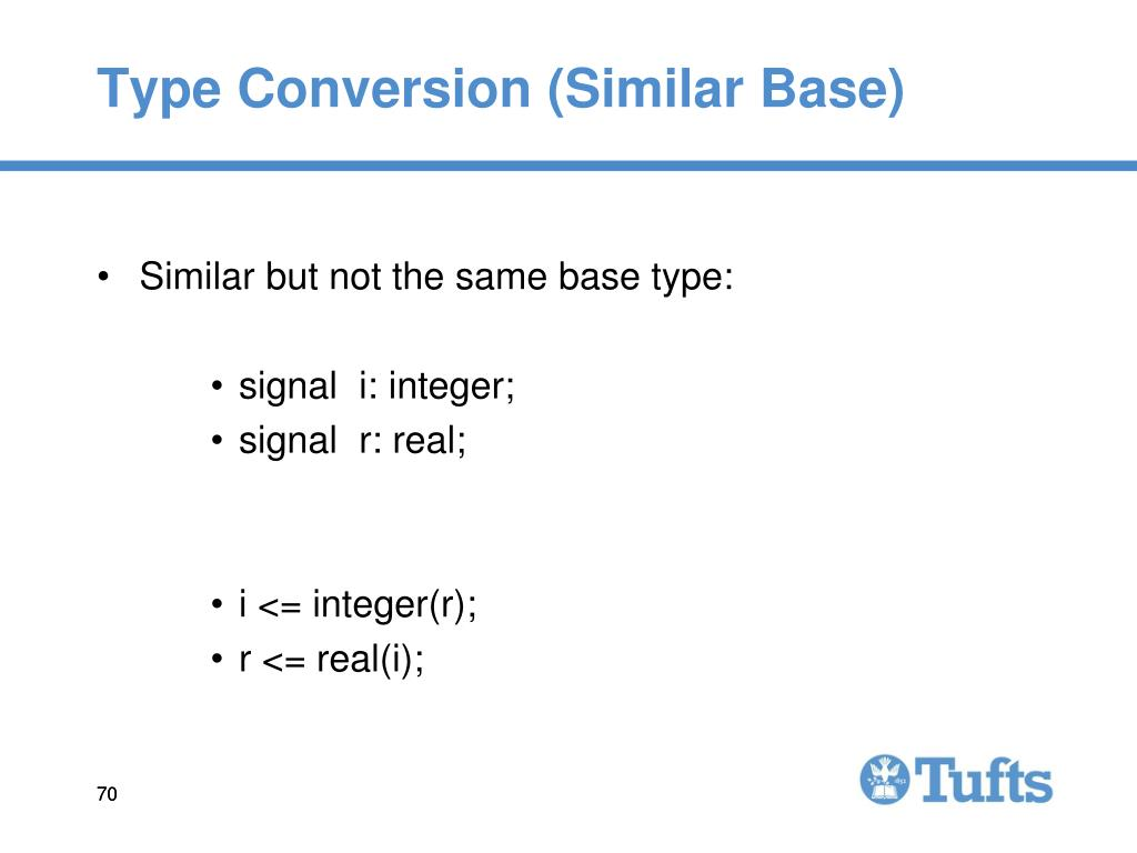 Type Conversion (Similar Base)