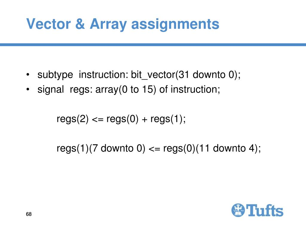 Vector & Array assignments