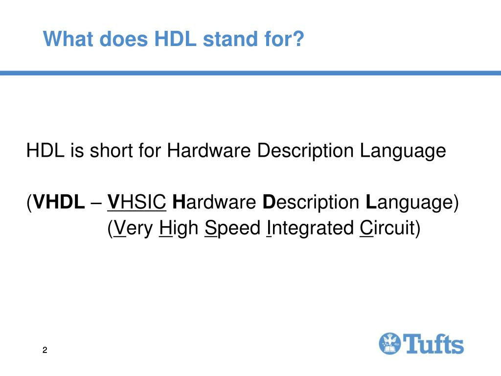 What does HDL stand for?