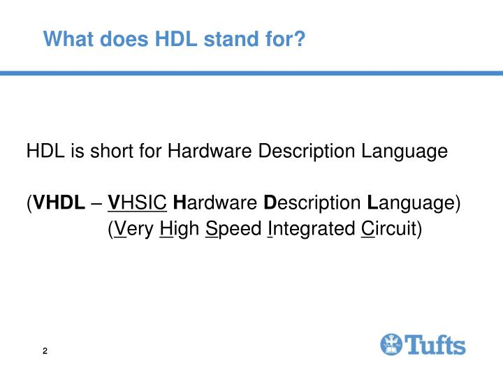 What does hdl stand for