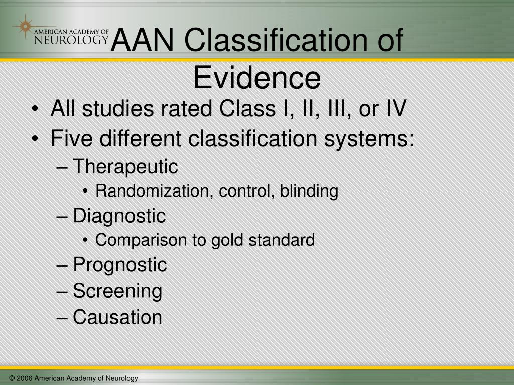 AAN Classification of