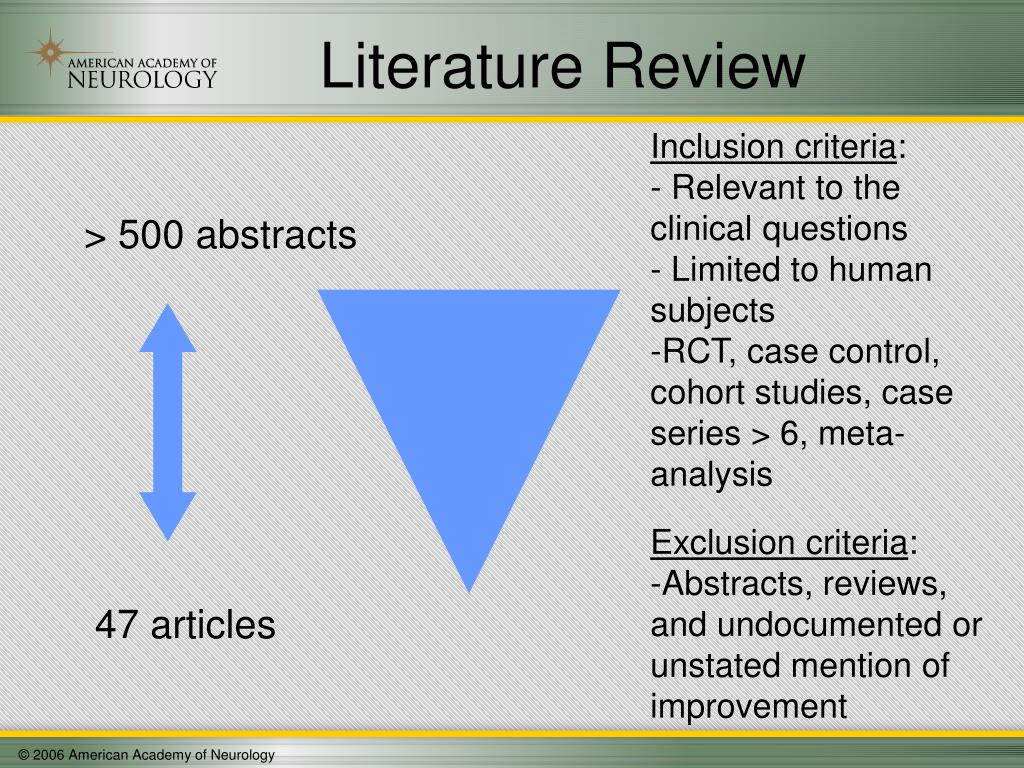 > 500 abstracts