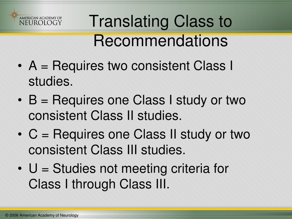 Translating Class to Recommendations