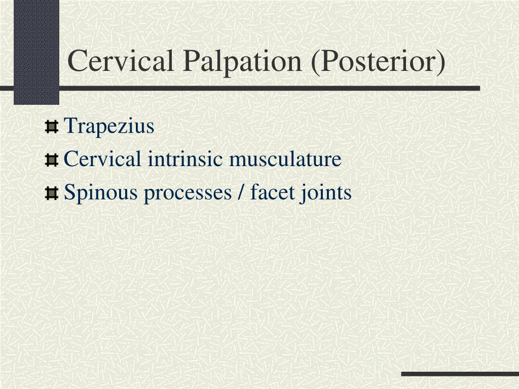 Cervical Palpation (Posterior)