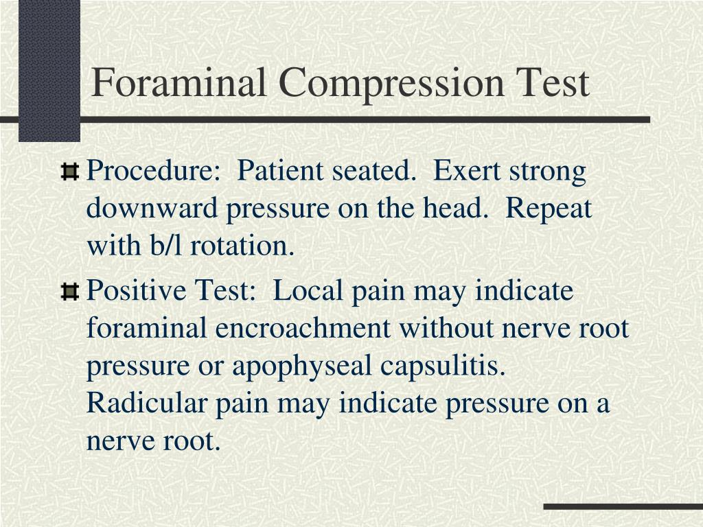 Foraminal Compression Test
