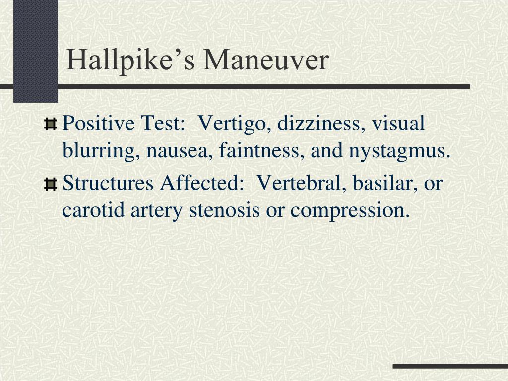 Hallpike's Maneuver