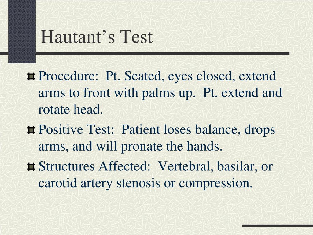 Hautant's Test