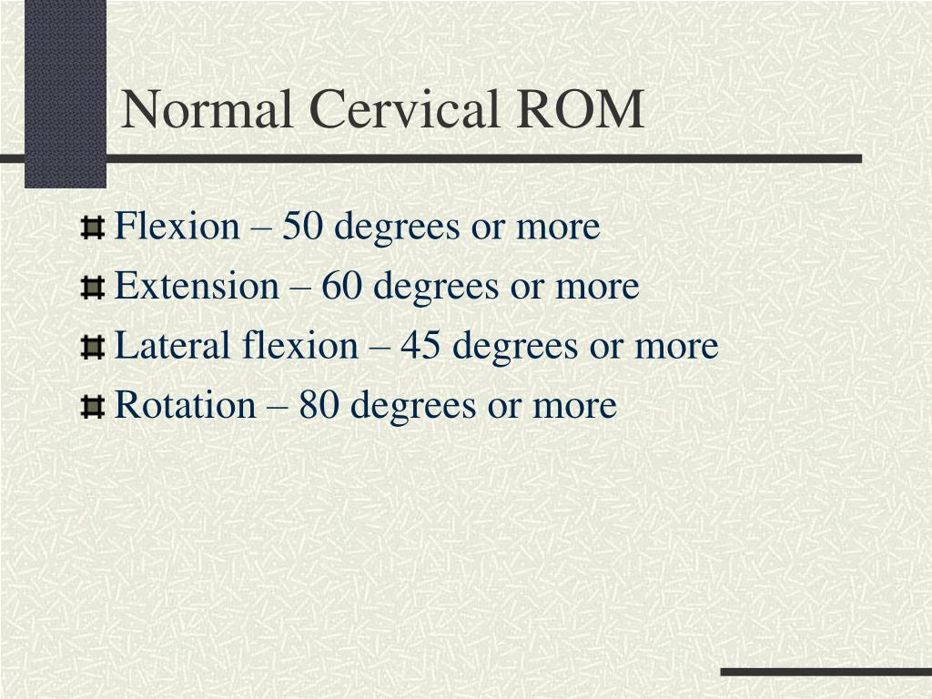 Normal Cervical ROM
