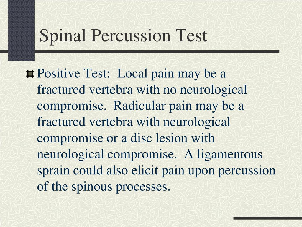 Spinal Percussion Test